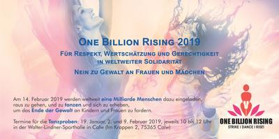 Bild vergrößern: One Billion Rising 2019 Karte